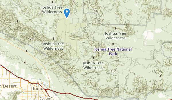 trail locations for Joshua Tree Wilderness (draft boundary)