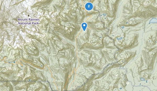 trail locations for Mount Rainier Wilderness