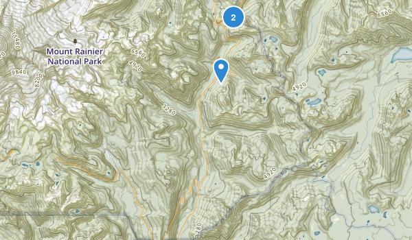 Mount Rainier Wilderness Map