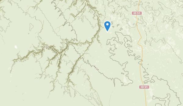 trail locations for Big Jacks Creek Wilderness