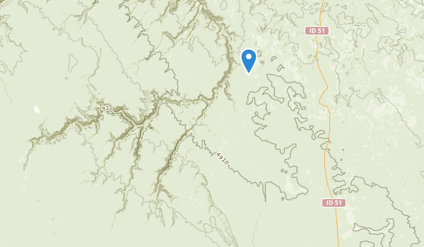 Big Jacks Creek Wilderness Map
