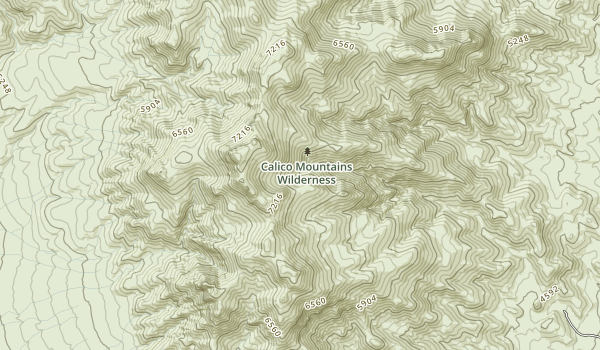 Calico Mountains Wilderness Map