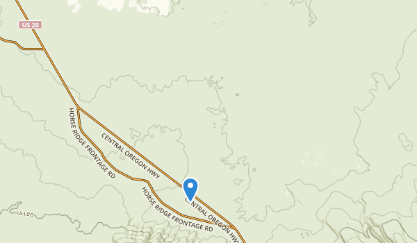 trail locations for Oregon Badlands Wilderness