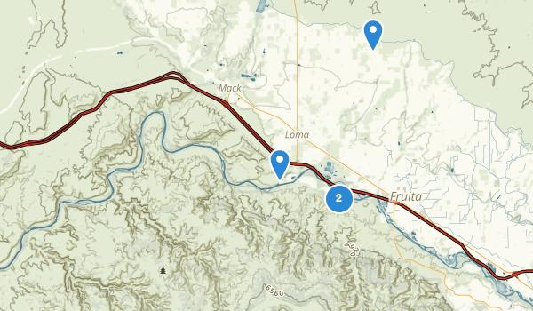 Black Ridge Canyons Wilderness Map