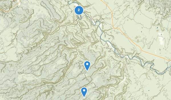 trail locations for Dominguez Canyon Wilderness