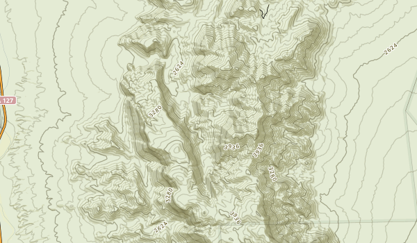 Resting Spring Range Wilderness Map