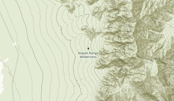 Nopah Range Wilderness Map