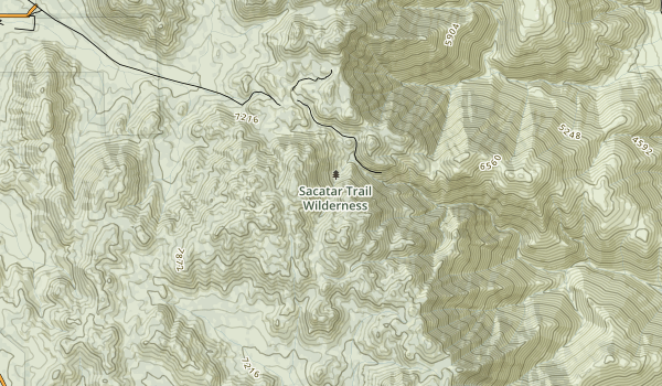 Sacatar Trail Wilderness Map