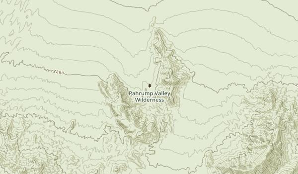 Pahrump Valley Wilderness Map