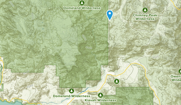Domeland Wilderness Map