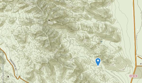Owens Peak Wilderness Map