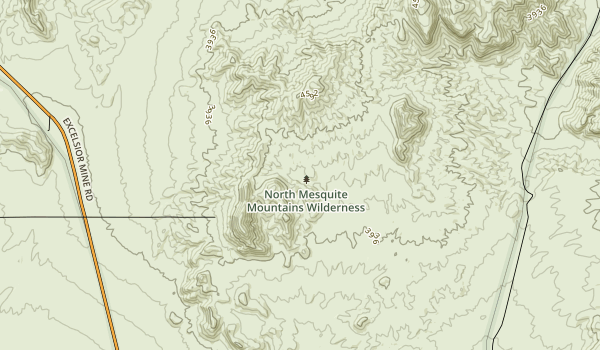 North Mesquite Mountains Wilderness Map