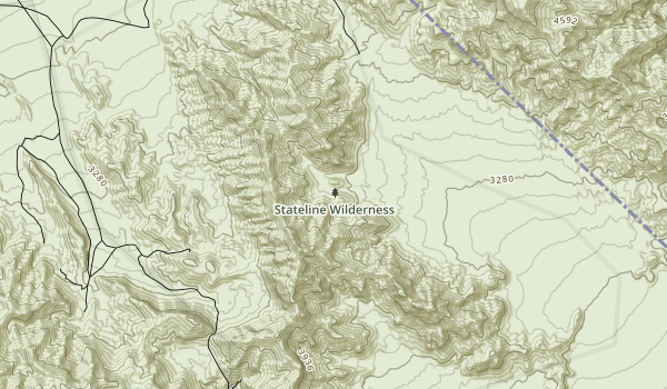 Stateline Wilderness Map