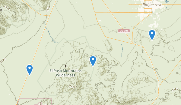El Paso Mountains Wilderness Map