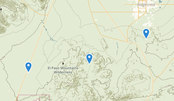 El Paso Mountains Wilderness Map