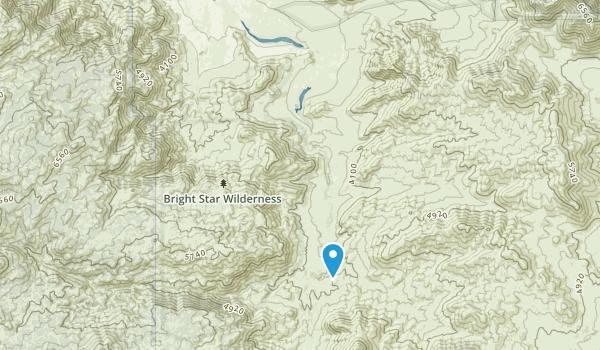 Bright Star Wilderness Map