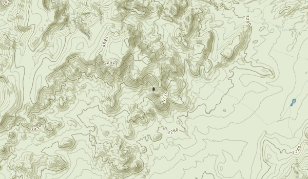 Golden Valley Wilderness Map