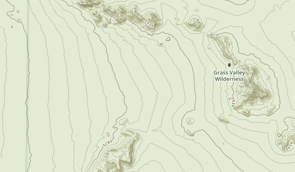 Grass Valley Wilderness Map
