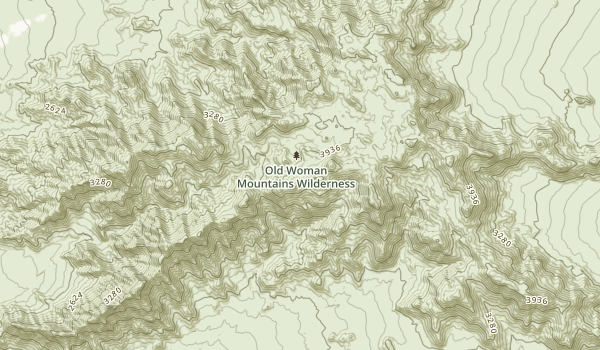 Old Woman Mountains Wilderness Map