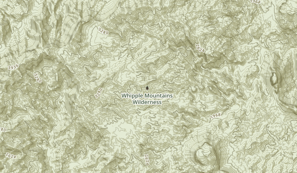 Whipple Mountains Wilderness Map