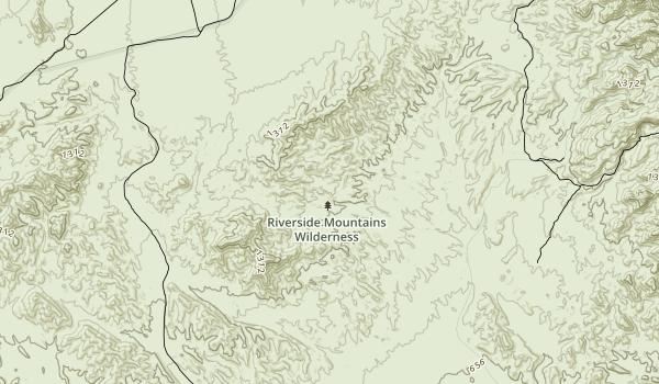 Riverside Mountains Wilderness Map