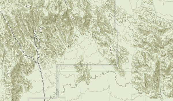 Pinto Mountains Wilderness Map