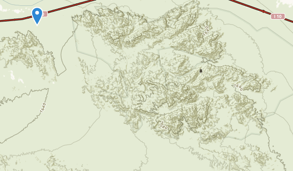 trail locations for Chuckwalla Mountains Wilderness