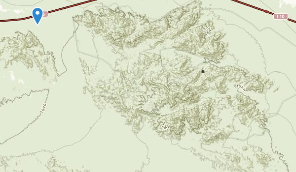 Chuckwalla Mountains Wilderness Map