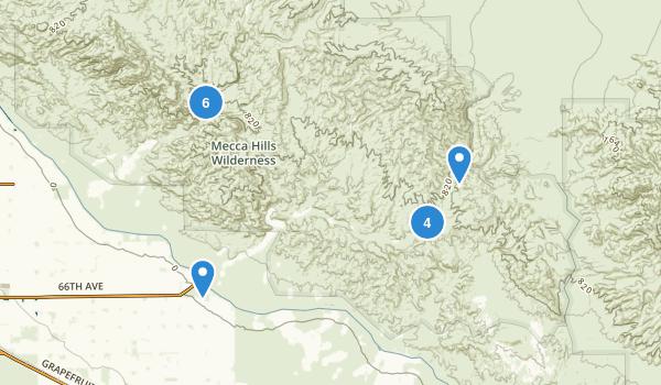 Mecca Hills Wilderness Map