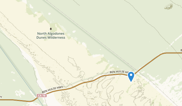 trail locations for North Algodones Dunes Wilderness