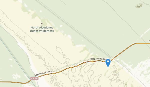 North Algodones Dunes Wilderness Map