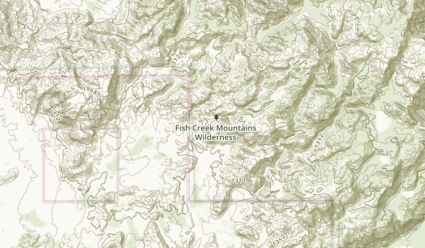 Fish Creek Mountains Wilderness Map