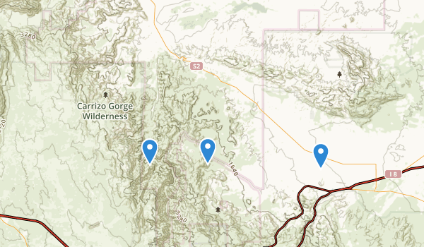 Carrizo Gorge Wilderness Map
