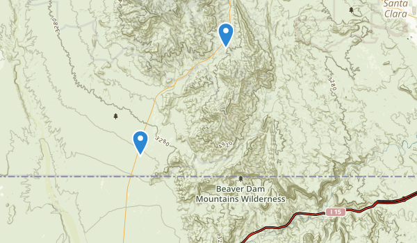 Beaver Dam Mountains Wilderness Map