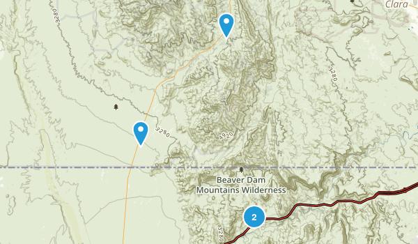 Beaver Dam Mountains Wilderness Map