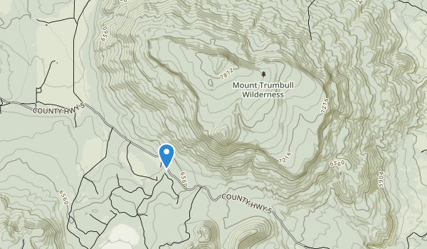 trail locations for Mount Trumbull Wilderness