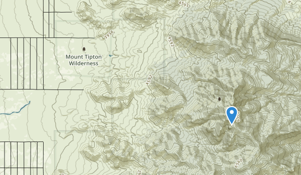 trail locations for Mount Tipton Wilderness