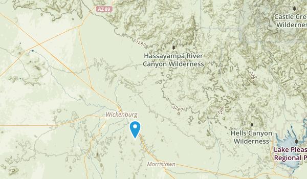 Hassayampa River Canyon Wilderness Map