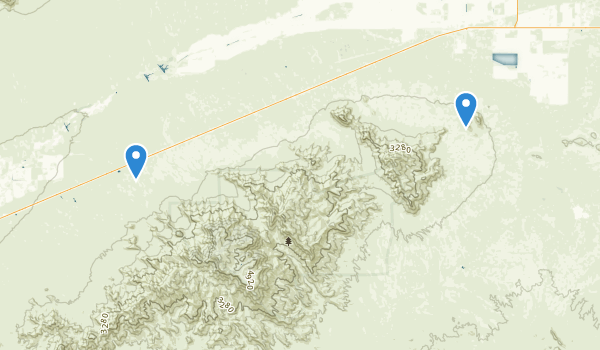 trail locations for Harquahala Mountains Wilderness