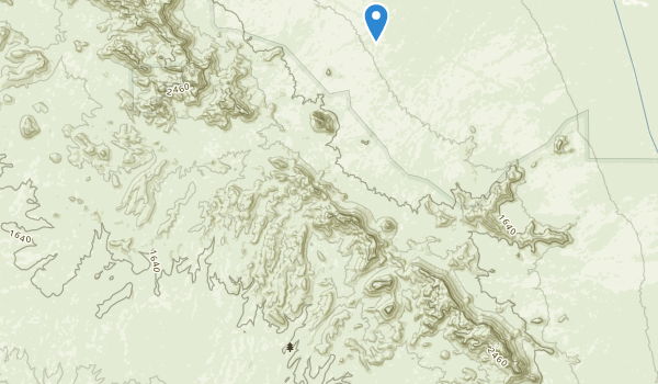 trail locations for Eagletail Mountains Wilderness