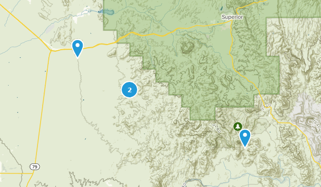White Canyon Wilderness Map