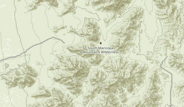 Sierra Estrella Wilderness Map