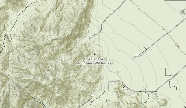Dos Cabezas Mountains Wilderness Map
