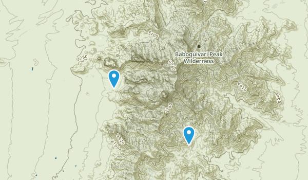 Baboquivari Peak Wilderness Map