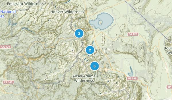 Ansel Adams Wilderness Map