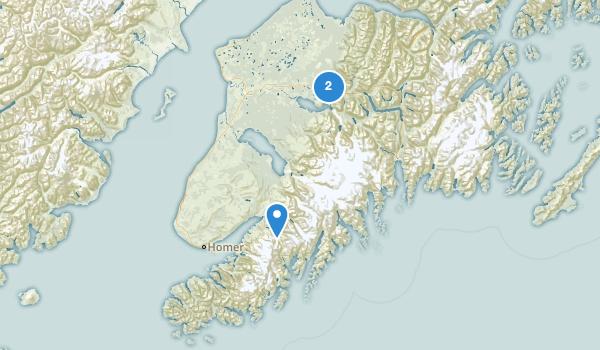 trail locations for Kenai Wilderness