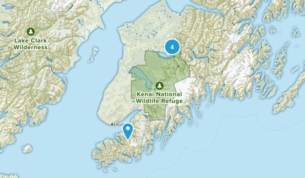 Kenai Wilderness Map