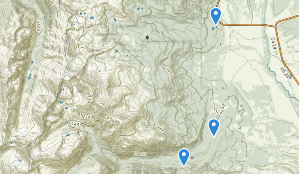 trail locations for Mount Massive Wilderness