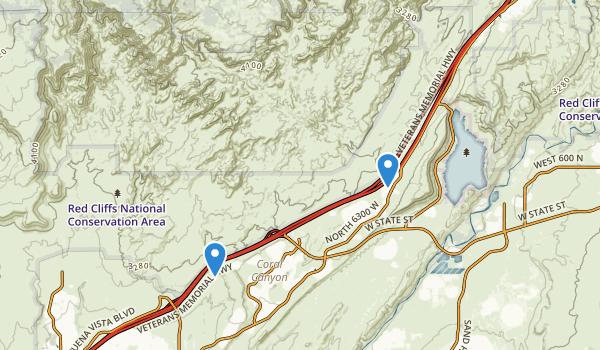 Cottonwood Canyon Wilderness Map
