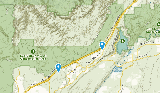 Cottonwood Canyon Wilderness Map